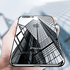 Funda Silicona Ultrafina Transparente A14 para Apple iPhone 8 Plus Negro