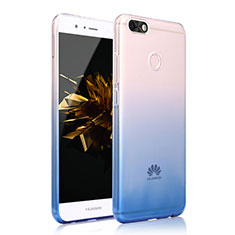 Funda Silicona Ultrafina Transparente Carcasa Gradiente para Huawei P9 Lite Mini Azul