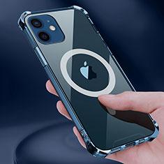 Funda Silicona Ultrafina Transparente con Mag-Safe Magnetic para Apple iPhone 12 Claro
