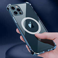Funda Silicona Ultrafina Transparente con Mag-Safe Magnetic para Apple iPhone 12 Pro Max Claro