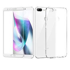 Funda Silicona Ultrafina Transparente con Protector de Pantalla para Huawei Honor 9 Lite Blanco