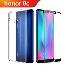 Funda Silicona Ultrafina Transparente con Protector de Pantalla para Huawei Honor Play 8C Claro