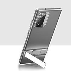 Funda Silicona Ultrafina Transparente con Soporte para Samsung Galaxy Note 20 5G Claro
