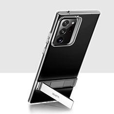 Funda Silicona Ultrafina Transparente con Soporte para Samsung Galaxy Note 20 Ultra 5G Claro