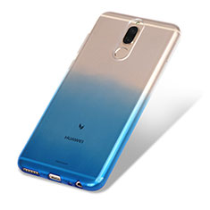 Funda Silicona Ultrafina Transparente Gradiente G01 para Huawei Mate 10 Lite Azul