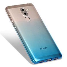 Funda Silicona Ultrafina Transparente Gradiente G01 para Huawei Mate 9 Lite Azul