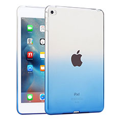 Funda Silicona Ultrafina Transparente Gradiente para Apple iPad Mini 4 Azul