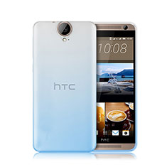 Funda Silicona Ultrafina Transparente Gradiente para HTC One E9 Plus Azul