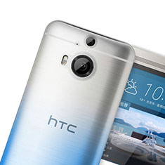 Funda Silicona Ultrafina Transparente Gradiente para HTC One M9 Plus Azul