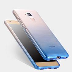 Funda Silicona Ultrafina Transparente Gradiente para Huawei Honor 5C Azul