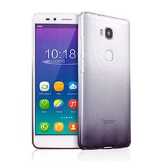 Funda Silicona Ultrafina Transparente Gradiente para Huawei Honor 5X Gris
