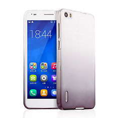 Funda Silicona Ultrafina Transparente Gradiente para Huawei Honor 6 Gris