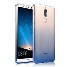 Funda Silicona Ultrafina Transparente Gradiente para Huawei Mate 10 Lite Azul