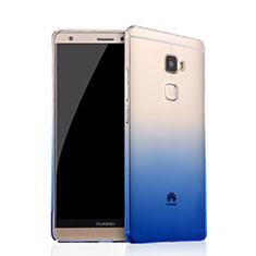 Funda Silicona Ultrafina Transparente Gradiente para Huawei Mate S Azul
