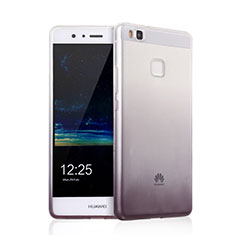 Funda Silicona Ultrafina Transparente Gradiente para Huawei P9 Lite Gris