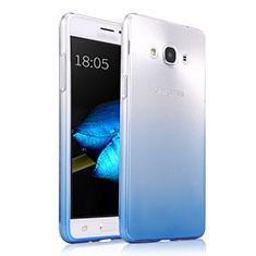 Funda Silicona Ultrafina Transparente Gradiente para Samsung Galaxy J3 Pro (2016) J3110 Azul