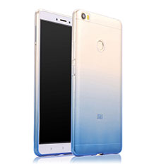 Funda Silicona Ultrafina Transparente Gradiente para Xiaomi Mi Max Azul