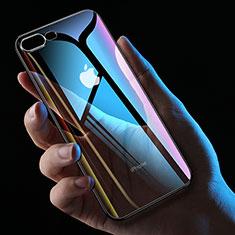 Funda Silicona Ultrafina Transparente HC01 para Apple iPhone 8 Plus Negro