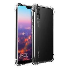 Funda Silicona Ultrafina Transparente K01 para Huawei P20 Claro