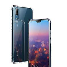 Funda Silicona Ultrafina Transparente K02 para Huawei P20 Claro
