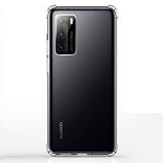 Funda Silicona Ultrafina Transparente K02 para Huawei P40 Claro