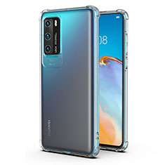 Funda Silicona Ultrafina Transparente K04 para Huawei P40 Claro