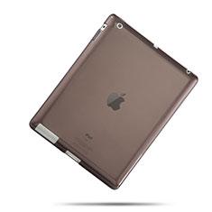 Funda Silicona Ultrafina Transparente para Apple iPad 4 Gris