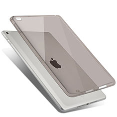 Funda Silicona Ultrafina Transparente para Apple iPad Air 2 Gris