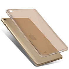 Funda Silicona Ultrafina Transparente para Apple iPad Mini 4 Oro