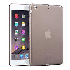 Funda Silicona Ultrafina Transparente para Apple iPad Mini Gris