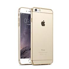 Funda Silicona Ultrafina Transparente para Apple iPhone 6 Oro