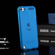 Funda Silicona Ultrafina Transparente para Apple iPod Touch 5 Azul