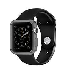 Funda Silicona Ultrafina Transparente para Apple iWatch 3 38mm Gris