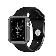 Funda Silicona Ultrafina Transparente para Apple iWatch 3 42mm Gris