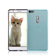 Funda Silicona Ultrafina Transparente para Asus Zenfone 3 Ultra ZU680KL Azul