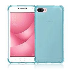 Funda Silicona Ultrafina Transparente para Asus Zenfone 4 Max ZC554KL Azul