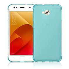 Funda Silicona Ultrafina Transparente para Asus Zenfone 4 Selfie ZD553KL Azul