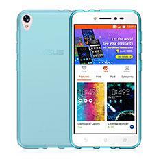 Funda Silicona Ultrafina Transparente para Asus Zenfone Live ZB501KL Azul