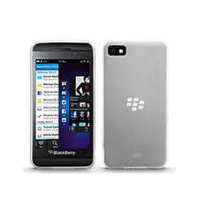 Funda Silicona Ultrafina Transparente para Blackberry Z10 Blanco