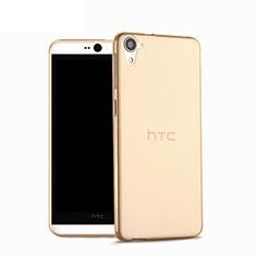 Funda Silicona Ultrafina Transparente para HTC Desire 826 826T 826W Oro