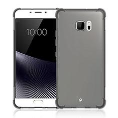 Funda Silicona Ultrafina Transparente para HTC U Ultra Gris