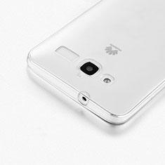 Funda Silicona Ultrafina Transparente para Huawei Ascend GX1 Claro