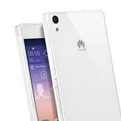 Funda Silicona Ultrafina Transparente para Huawei Ascend P7 Blanco