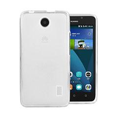 Funda Silicona Ultrafina Transparente para Huawei Ascend Y635 Blanco