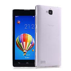 Funda Silicona Ultrafina Transparente para Huawei Honor 3C Claro