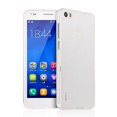 Funda Silicona Ultrafina Transparente para Huawei Honor 6 Claro