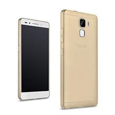 Funda Silicona Ultrafina Transparente para Huawei Honor 7 Dual SIM Oro