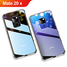Funda Silicona Ultrafina Transparente para Huawei Mate 20 X Claro