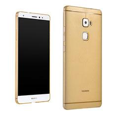 Funda Silicona Ultrafina Transparente para Huawei Mate S Oro