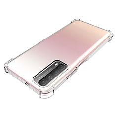 Funda Silicona Ultrafina Transparente para Huawei Y7a Claro